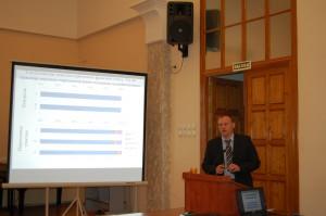 """Выступление к.б.н. А.А. Дымова с докладом """"Пирогенные изменения лесных почв и почвенного органического вещества"""""""