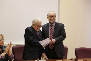 Поздравление академика М.П. Рощеского с Днем рождения